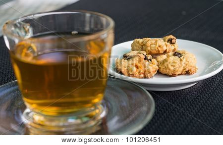 tea and fresh cookies