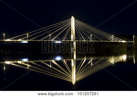 Cable Bridge In Umeå, Sweden