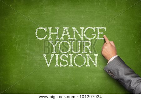 Change your vision text on blackboard