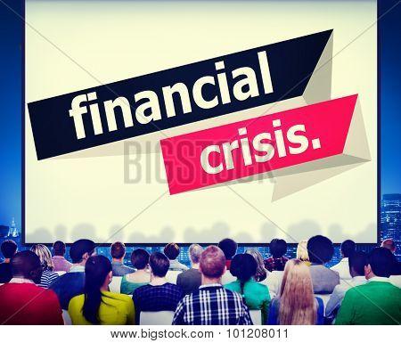 Financial Crisis Economics Banking Finance Concept