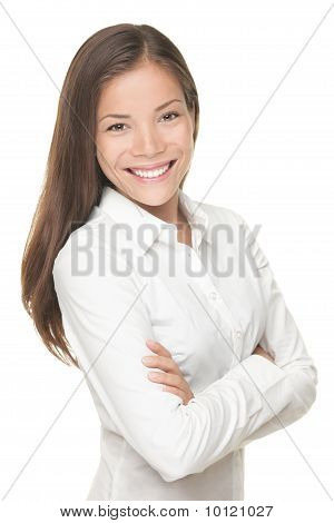 Young Smiling Businesswoman Portrait