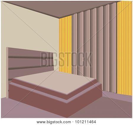 Bedroom Vector Illustration