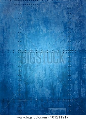Blue ship plate texture ideal for backgrounds
