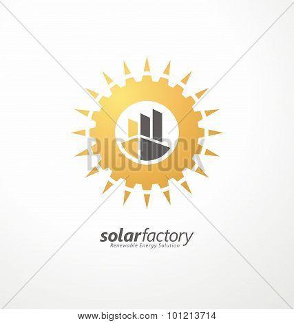 Creative symbol design for solar energy business