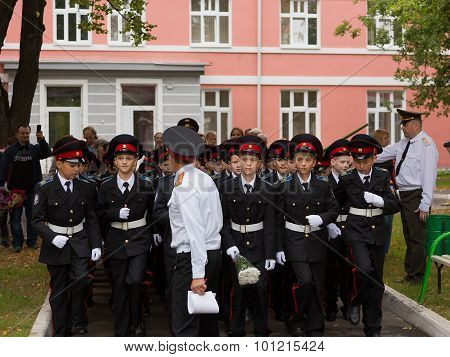 March and a parade on September 1 in the First Moscow Cadet Corps
