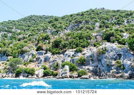 Sunken Lycian City On  Kekova Island, Turkey
