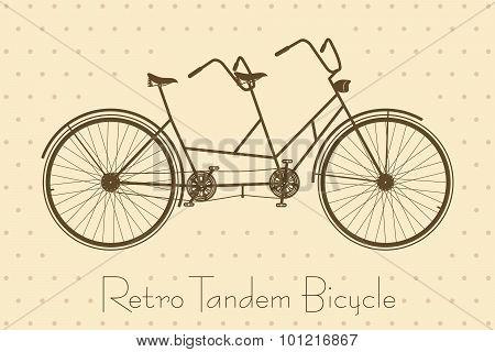 Tandem Bicycle Vintage Card