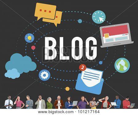 Blog Blogging Media Messaging Social Media Concept
