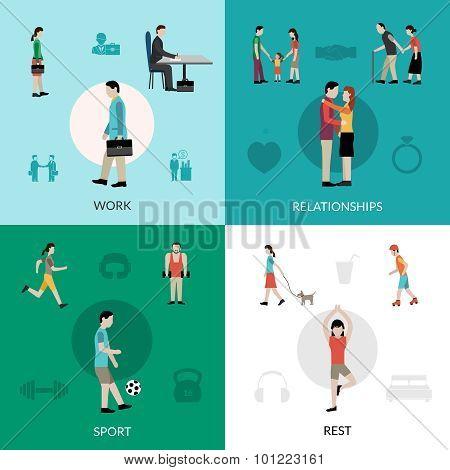 Lifestyle Icons Set