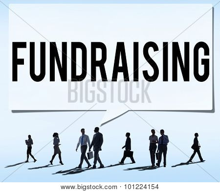 Fundraiser Funding Finance Economy Donation Concept