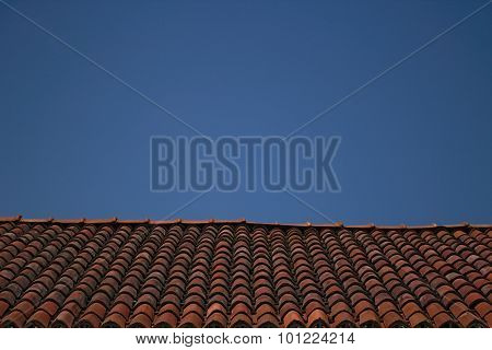 Clay shingle roof