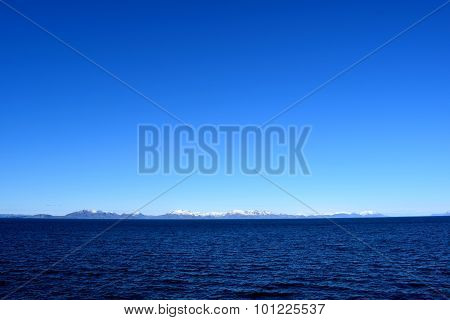 Blue horizon in Northern Norway