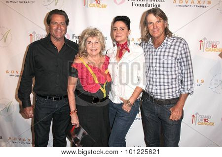 LOS ANGELES - SEP 9:  Jimmy Van Patten, Pat Van Patten, Nancy Valen, Nels Van Patten at the Farrah Fawcett Foundation Fiesta at the Wallis Annenberg Center on September 9, 2015 in Beverly Hills, CA