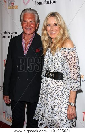 LOS ANGELES - SEP 9: George Hamilton, Alana Stewart at the Farrah Fawcett Foundation 1st Tex-Mex Fiesta at the Wallis Annenberg Center for the Performing Arts on September 9, 2015 in Beverly Hills, CA