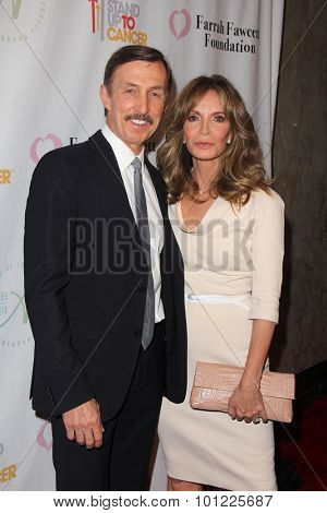 LOS ANGELES - SEP 9:  Brad Allen, Jaclyn Smith at the Farrah Fawcett Foundation 1st Tex-Mex Fiesta at the Wallis Annenberg Center for the Performing Arts on September 9, 2015 in Beverly Hills, CA