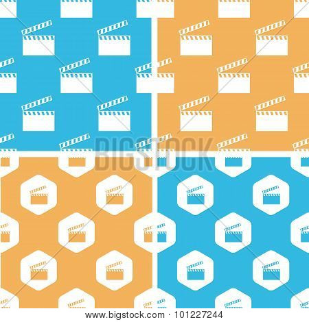 Clapperboard pattern set, colored