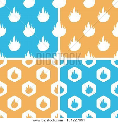 Flame pattern set, colored