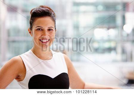 Businesswoman, head and shoulders portrait