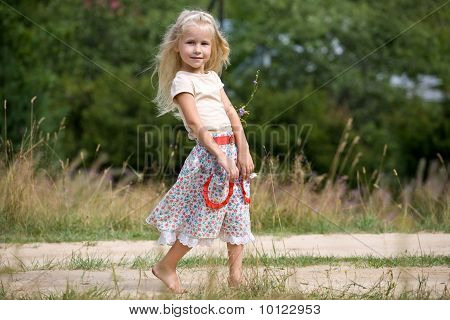 Girl With Summer Flowers