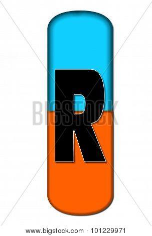Alphabet Capsule R