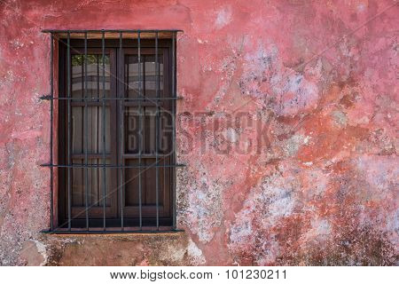 Old Rustic Window, Traveling Colonia Uruguay. South America