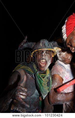 Man in Jab Jab costume