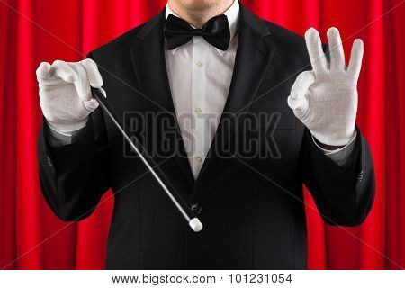 Close-up Of Magician Performing Magic