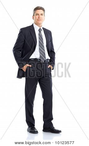 Happy Handsome Businessman