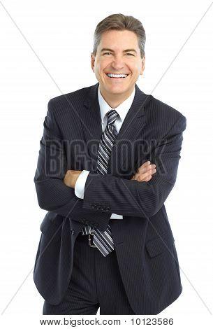 glücklich gut aussehend Kaufmann