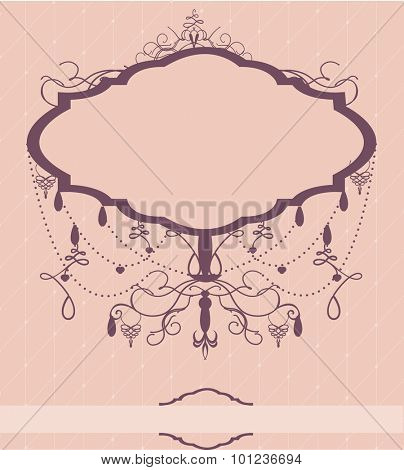 Invitation card with chandelier