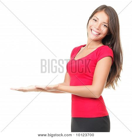 Woman Open Hands Holding Copy Space