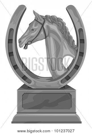 Vector illustration of equine trophy.