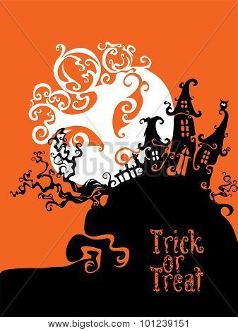 Boo Trick Or Treat card design