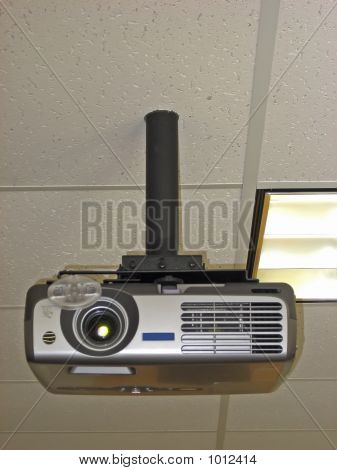 Projector Mounted On Ceiling