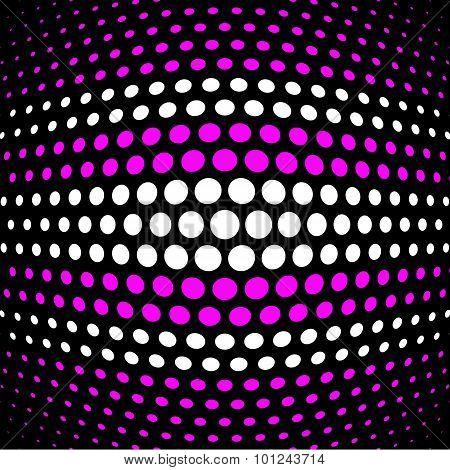 Fuchsia and white polka dot background