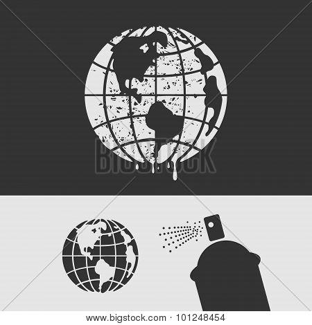 Symbol Stencil Planet