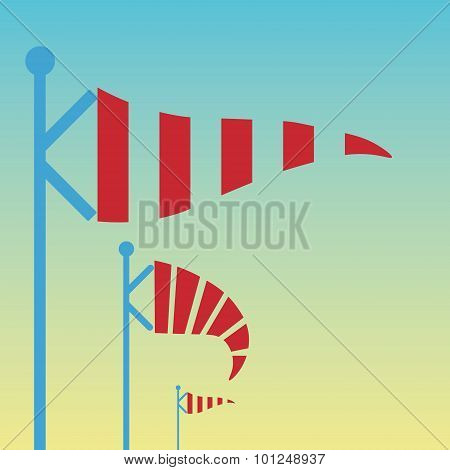 Wind vane, weather vane in vector