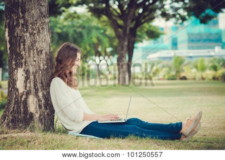 Blogging in the park