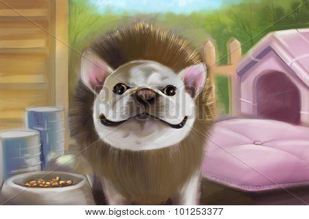 Bull Dog Painting