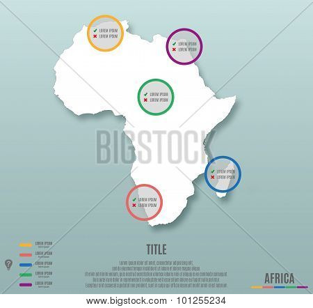 Africa Continent Template For Infographics