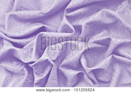 Lavender Silk Damask With Wavy Texture
