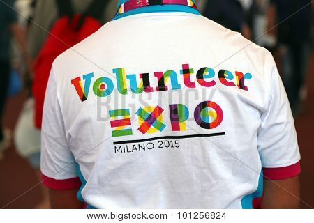 Milan, Italy - 8Th September, 2015. Expo Milano 2015. Volunteer People