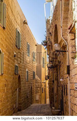 A narrow street in Old Jaffa,