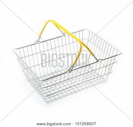 Empty Metal Basket