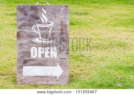 Open Sign Board
