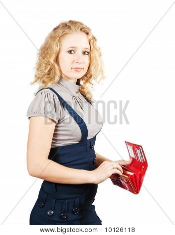 Businesswoman With Opening Wallet