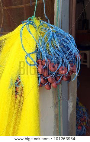 Fishermen's net hanged