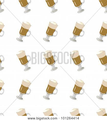 Coffee Latte Seamless Pattern