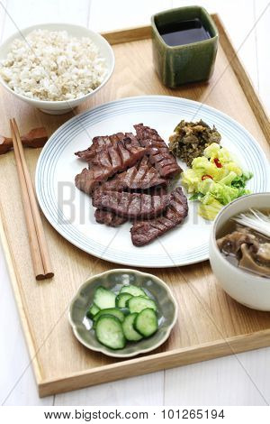 grilled beef tongue, japanese food