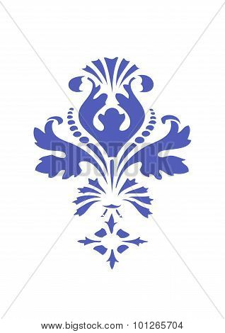 Vector Abstract Blue Flower Element Design Isolated